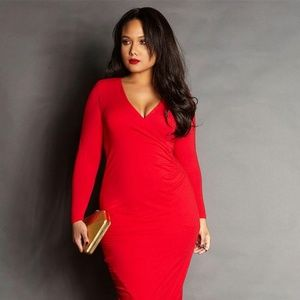 """REBDOLLS Grisel """"The Event"""" Ruched Maxi Dress"""